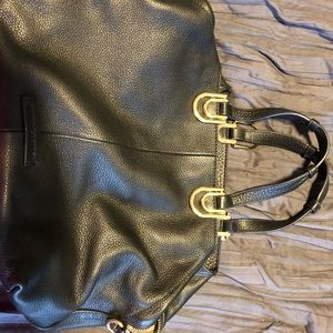 Vince Camuto black leather bag